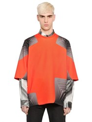 Christopher Kane Pages Printed Light Neoprene T Shirt