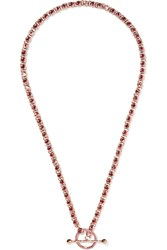 Eddie Borgo Voyager Rose Gold Plated Cubic Zirconia Necklace