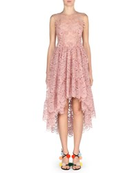 Fendi Sleeveless 3D Bow Lace Cocktail Dress Pink