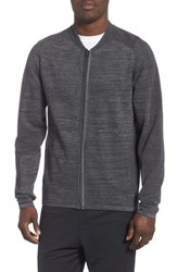 Zella Tech Sweater Baseball Jacket Black Oxide Spacedye
