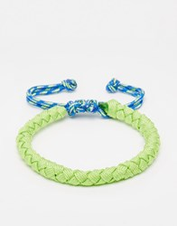 Jack And Jones Jack And Jones Leather Neon Bracelet Green