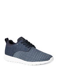 Gbx Arco Flexstretch Woven Lace Up Sneakers Dark Blue