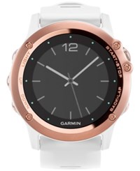 Garmin Women's Digital Fenix 3 Sapphire White Silicone Strap Smart Watch 51Mm 010 01338 50