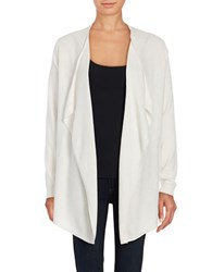 Lord And Taylor Mini Cable Knit Flyaway Cardigan White