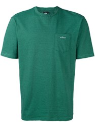 Stussy Pocket T Shirt Men Cotton S Green