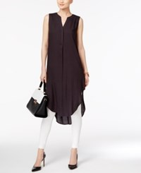 Cable And Gauge High Low Tunic Jet Black