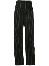 Y Project Pinstriped Wide Leg Trousers 60