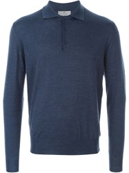Canali Polo Sweater Blue