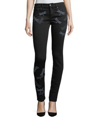 Red Valentino Dragonfly Patch Skinny Jeans Nero