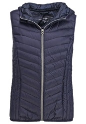 Tom Tailor Denim Waistcoat Knitted Navy Dark Blue