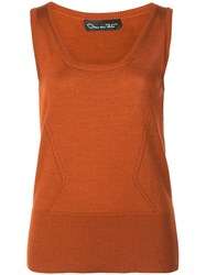 Oscar De La Renta Scoop Neck Knit Top 60