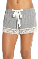 Women's Flora Nikrooz 'Snuggle' Knit Shorts Heather Grey