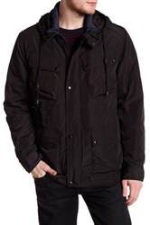 Cole Haan Pocketed Hooded Jacket Black