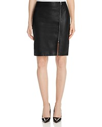 Cupcakes And Cashmere Emmett Faux Leather Pencil Skirt Black
