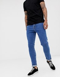 New Look Slim Jeans In Mid Blue Wash Bright Blue