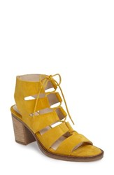 Bos. And Co. Women's Brooke Ghillie Cage Sandal Yellow Suede