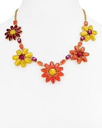 Kate Spade New York Floral Statement Necklace 16 Multi
