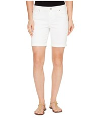 Liverpool Corine Walking Shorts Rolled Cuff In Stretch Peached Twill In Bright White Bright White Women's Shorts