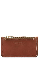 Red Wing Shoes Once Leather Zipper Pouch Brown Oro Russet
