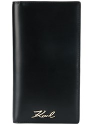 Karl Lagerfeld Signature Travel Wallet Black