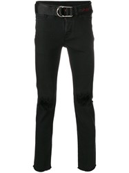 Zadig And Voltaire X Evan Ross Ripped Jeans Black