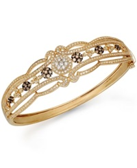 Effy Collection Espresso By Effy Brown And White Diamond Bangle In 14K Gold 2 Ct. T.W.