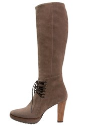 Zinda High Heeled Boots Topo Taupe
