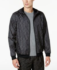 Ideology Id Men's Reflective Printed Windbreaker Created For Macy's Deep Black