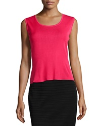 Ming Wang Sleeveless Scoop Neck Shell Geranium