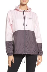 Columbia Women's Flash Forward Tm Windbreaker Jacket Whitened Pink Pulse