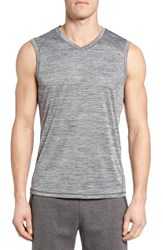 Zella Men's Triplite Muscle T Shirt Grey Zinc
