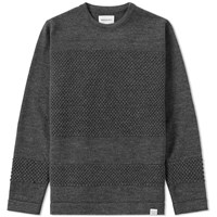 Norse Projects Skagen Bubble Crew Knit Grey