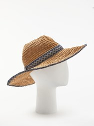 And Or Aztec Packable Glam Floppy Sun Hat Natural