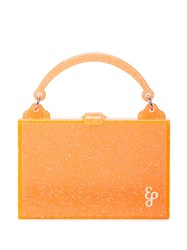 Edie Parker Small Box Bag Orange