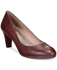 Easy Spirit Neoma Pumps Women's Shoes Dark Red Leather