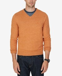 Nautica Men's V Neck Sweater Tanglo