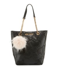 Betsey Johnson Sweethearts North South Tote Bag Black