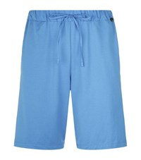 Hanro Jersey Lounge Shorts Male Blue