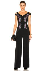 Peter Pilotto Cady Embroidered Jumpsuit In Black