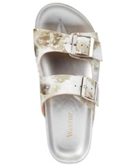 Wanted Bluebell Footbed Sandals Women's Shoes Beige