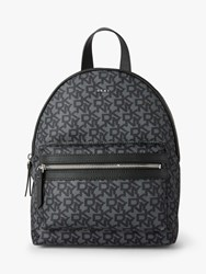 Dkny Casey Nylon Logo Backpack Black