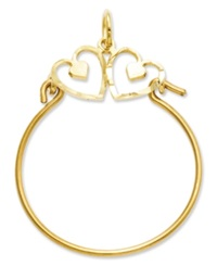 Macy's 14K Gold Charm Holder Heart Charm Holder
