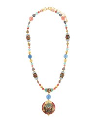 Jose And Maria Barrera Mixed Long Pastel Pendant Necklace Multi
