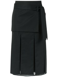 Giuliana Romanno Panelled Skirt Black