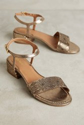 Anthropologie Klub Nico Rebekah Metallic Heeled Sandals Bronze