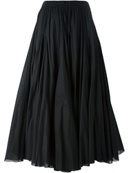 P.A.R.O.S.H. High Waisted Maxi Skirt Black