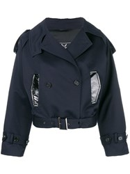 Unconditional Double Breasted Cropped Jacket Blue