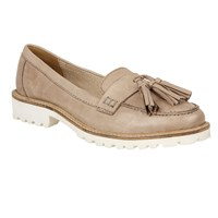 Ravel Midway Cleated Sole Slip On Loafers Ecru