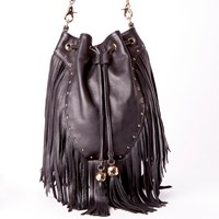 Dolce Vita Collection Handbags Amber Convertible Backpack W Fringeblack