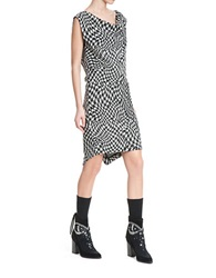 Tracy Reese Sexy Sia Houndstooth Dress Black